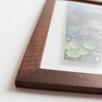 Brown Glass on Glass Frame